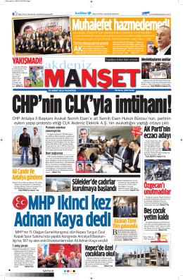 YAKIŞMADI! - Akdeniz Manşet