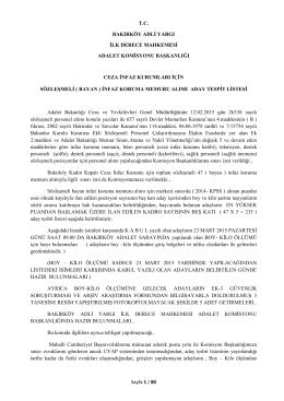 (Bayan) İnfaz Koruma Memuru Alımı Aday Tespit Listesi 16.03