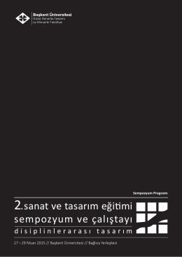 2.sanat ve tasarım eğitimi sempozyum ve çalıştayı
