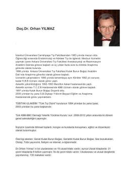 Doç.Dr. Orhan YILMAZ - Dışkapı Yıldırım Beyazıt Eğitim ve Araştırma