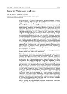 Beckwith-Wiedemann sendromu - Çocuk Sağlığı ve Hastalıkları