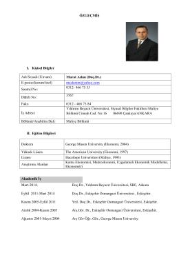 Murat Aslan - Yıldırım Beyazıt Üniversitesi