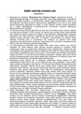 izmir askom kararları - Dr. Faruk İlker Bergama Devlet Hastanesi