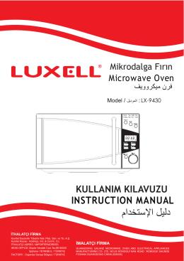LX-9430 MİKRODALGA FIRIN KILAVUZU (TR-GB-SA