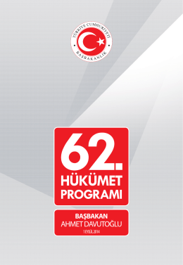 62. Hükümet Programı