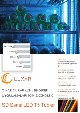 LUXAR SD Serisi LED T5 Tüpler