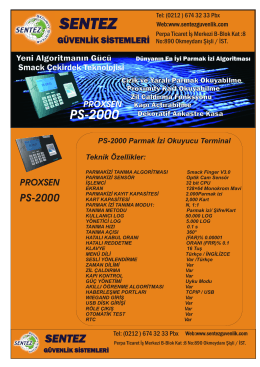 ps-2000 - parmak izi sistemleri