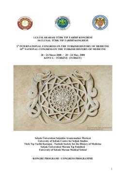 Program Tıklayın - Türk Tıp Tarihi Kurumu