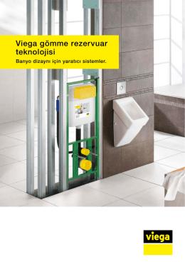 Viega gömme rezervuar teknolojisi. Banyo dizaynı için yaratıcı
