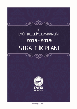 Eyüp Belediyesi 2015–2019 Stratejik planI