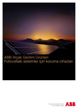 ABB Alçak Gerilim Ürünleri Fotovoltaik sistemler için koruma cihazları