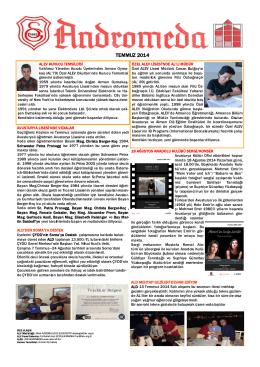 Andromeda Temmuz 2014 sayısı (pdf)