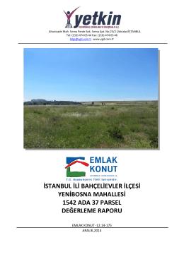 istanbul ili bahçelievler ilçesi yenibosna mahallesi 1542 ada 37