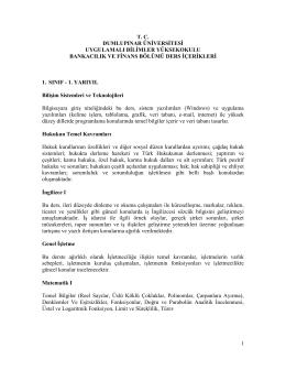 1 tc dumlupınar üniversitesi uygulamalı bilimler