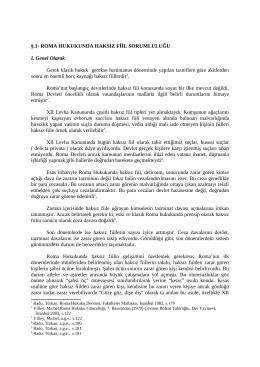 roma, isviçre-türk ve ingiliz hukukunda haksız fiil sorumluluğu