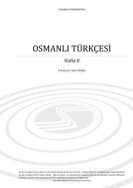 osmanlı türkçesi - sauPORT