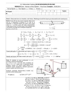Soru 1 - Çevre Mühendisliği Bölümü