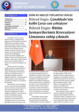 79.Ekim 2014-2 - Çanakkale Ticaret ve Sanayi Odası