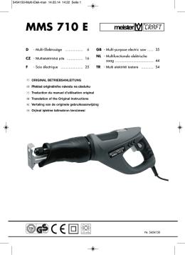 MMS 710 E - Meister Werkzeuge