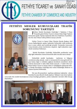 Sayı- 14 - Fethiye Ticaret ve Sanayi Odası