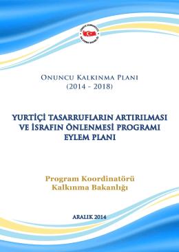 Yurtiçi Tasarrufların Artırılması ve İsrafın Önlenmesi Programı