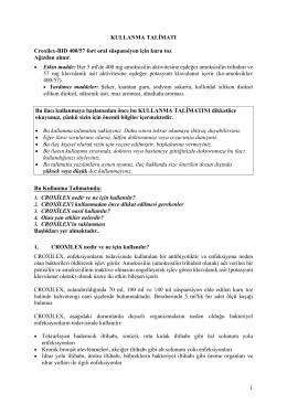 1 KULLANMA TALİMATI Croxilex-BID 400/57 fort oral süspansiyon