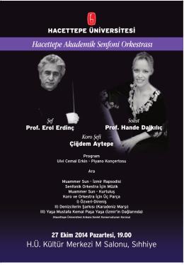 Hacettepe Akademik Senfoni Orkestrası Konseri