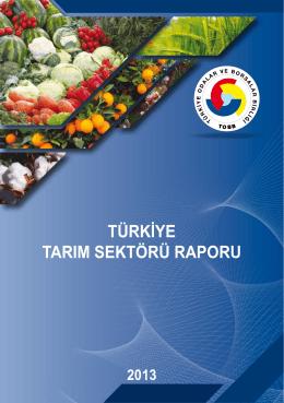 türkiye tarım sektörü raporu