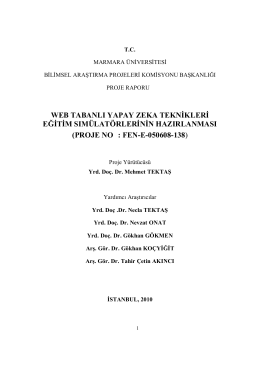 Bapko Proje Raporu - Doç.Dr.Mehmet Tektaş