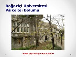 Undergraduate - Psikoloji Bölümü