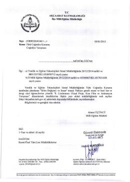 """Türk Coğrafya Kurumu ´nun düzenlediği, """"İklim Değişimi ve İnsan"""""""