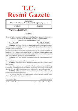 Resmi Gazete - TC Gıda Tarım ve Hayvancılık Bakanlığı