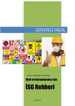 İSG Rehberi Kitapçığı - Kayseri Milli Eğitim Müdürlüğü
