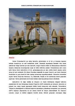 Harran Üniversitesi İç Kontrol Standartlarına Uyum Eylem Planı