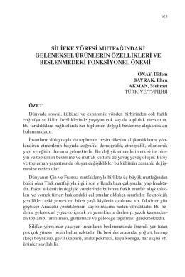 ÖNAY, Didem – BAYRAK, Ebru – AKMAN, Mehmet-SİLİFKE