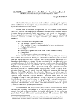 Eski Anadolu Türkçesi ve Örnek Metinler, Hüseyin