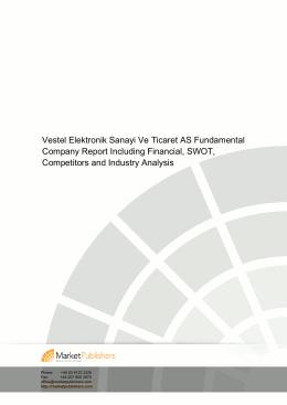 Vestel Elektronik Sanayi Ve Ticaret AS Fundamental Company