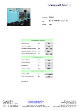 DEMAG Ergotech 800-310 System NC4 1994 80