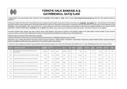 2015 Nisan ihale - Halkbank Gayrimenkul
