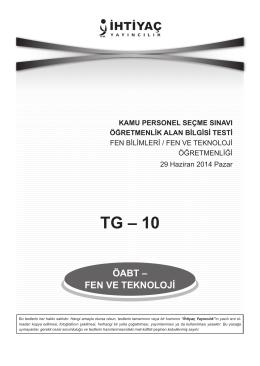 Fen ve Teknoloji 10 - İhtiyaç Yayıncılık