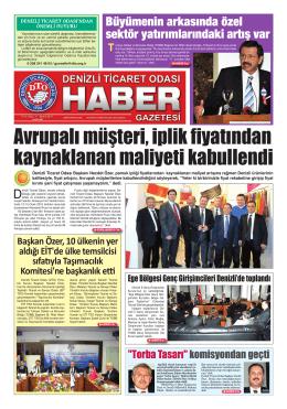 Gazete 21 - Denizli Ticaret Odası