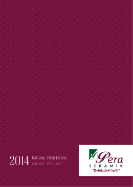 pdf-katalog - Pera Seramik