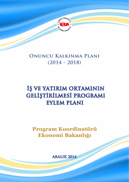 İş ve Yatırım Ortamının Geliştirilmesi Programı