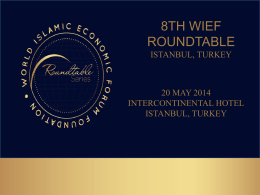 8th wief roundtable - World Islamic Economic Forum Foundation