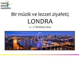 LONDRA PROGRAMI