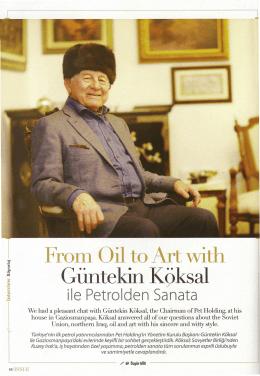 Mart 2014 Güntekin Köksal ile Petrolden Sanata