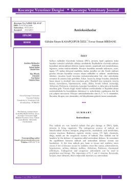 Antioksidanlar - Afyon Kocatepe Üniversitesi