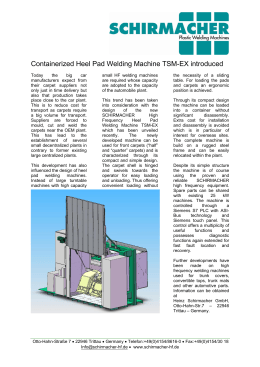 Containerized Heel Pad Welding Machine TSM