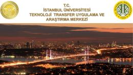 Tanıtım - İstanbul TTM - İstanbul Üniversitesi