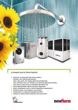 Isı Pompalı Sıcak Su Üretim Paketleri
